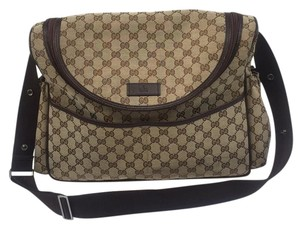 Gucci Monogram Brown Diaper Bag