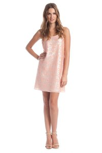Shoshanna short dress Pink Coral Sequin Tank on Tradesy