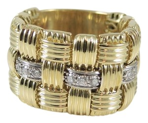 Roberto Coin Roberto Coin 18K Yellow Gold~White Gold Diamond Appassionata Ring