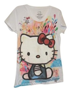 Hello Kitty Graphic Tee Fitted T Shirt White