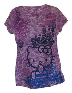 Hello Kitty Graphic Tee Fitted T Shirt Purple