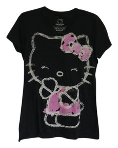 Hello Kitty Graphic Tee Fitted T Shirt Black