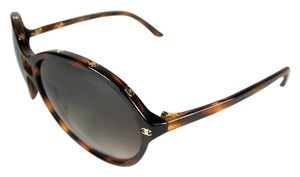 Chanel Glam - Tortoise Brown & Gold Metal
