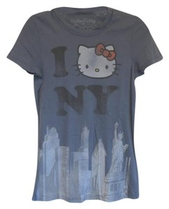 Hello Kitty Graphic Tee Fitted T Shirt Blue