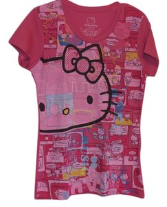 Hello Kitty Graphic Tee Fitted T Shirt Pink