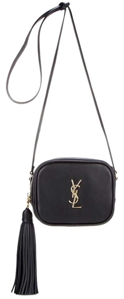 Saint Laurent Ysl Monogram Blogger Black Leather Cross Body Bag ... 4a518f934f73e