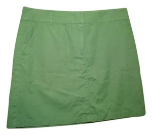 J.Crew Kahki Mini Skirt Green