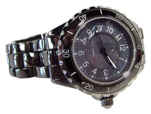 Isaac Mizrahi Live! Hematite Ceramic Watch with Mother of Pearl Dial