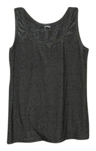 Three Dots Cami Layering Top Grey Metallic