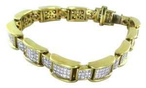 Other 18KT YELLOW GOLD BRACELET 354 DIAMONDS 13 CARAT BANGLE 76.9 GRAMS