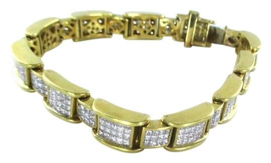 Other 18KT YELLOW GOLD BRACELET 354 DIAMONDS 13 CARAT BANGLE 76.9 GRAMS Image 0