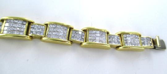 Other 18KT YELLOW GOLD BRACELET 354 DIAMONDS 13 CARAT BANGLE 76.9 GRAMS Image 1