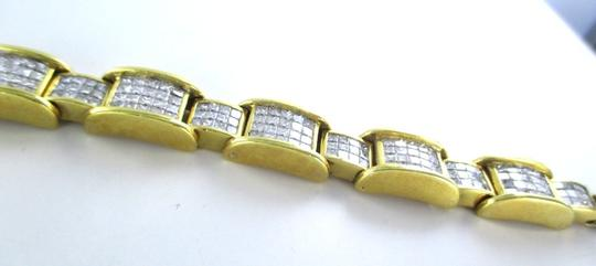 Other 18KT YELLOW GOLD BRACELET 354 DIAMONDS 13 CARAT BANGLE 76.9 GRAMS Image 2