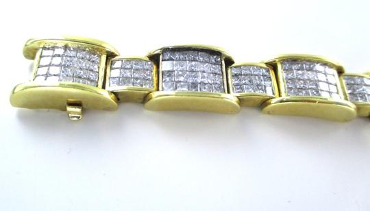 Other 18KT YELLOW GOLD BRACELET 354 DIAMONDS 13 CARAT BANGLE 76.9 GRAMS Image 3