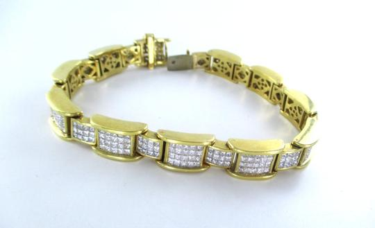 Other 18KT YELLOW GOLD BRACELET 354 DIAMONDS 13 CARAT BANGLE 76.9 GRAMS Image 4