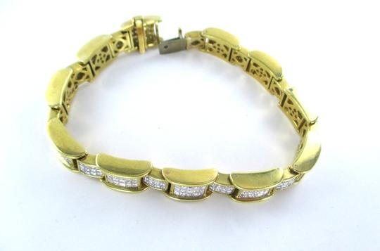 Other 18KT YELLOW GOLD BRACELET 354 DIAMONDS 13 CARAT BANGLE 76.9 GRAMS Image 5