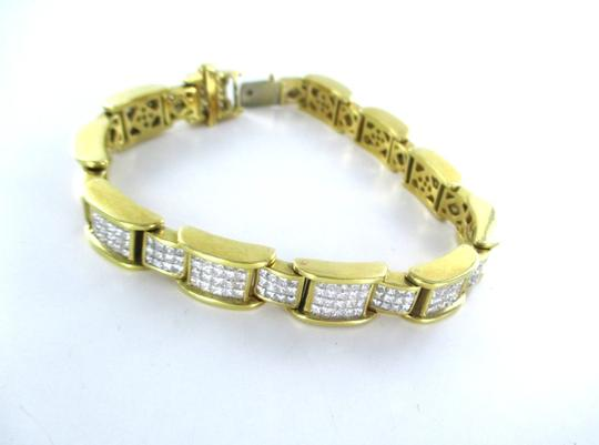 Other 18KT YELLOW GOLD BRACELET 354 DIAMONDS 13 CARAT BANGLE 76.9 GRAMS Image 7