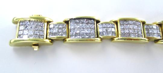 Other 18KT YELLOW GOLD BRACELET 354 DIAMONDS 13 CARAT BANGLE 76.9 GRAMS Image 8