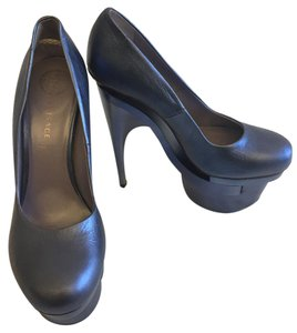 Versace Platform Metallic Blue Pumps