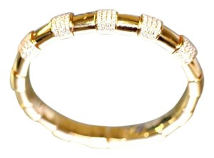 Other Italian Gold Diamond Cuff Bracelet