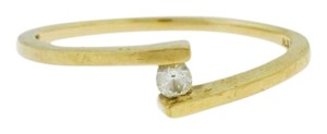 Other Tension Round Cut Engagement Ring- 10k Yellow Ring