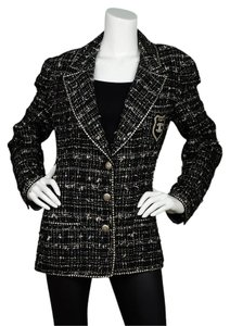 Chanel Jacket Tweed Tweed Jacket black Blazer