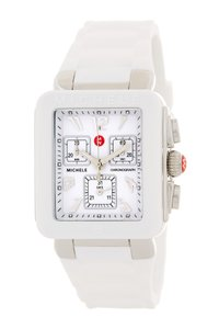 Michele NWOT MICHELE PARK JELLY BEAN SILVER/ White