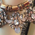 Other Vintage Style Necklace metallic and stones Image 1