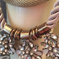 Other Vintage Style Necklace metallic and stones Image 2