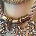 Other Vintage Style Necklace metallic and stones Image 6