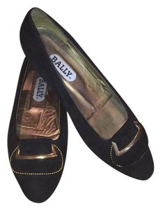Bally Black gold Flats