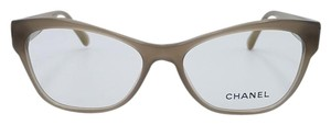Chanel Chanel Taupe Cat Eye Eyeglasses Frame 3307 c.1416 53