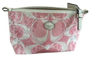 Coach COACH Getaway Travel Snake C Print Cosmetic Makeup Pouch Case large