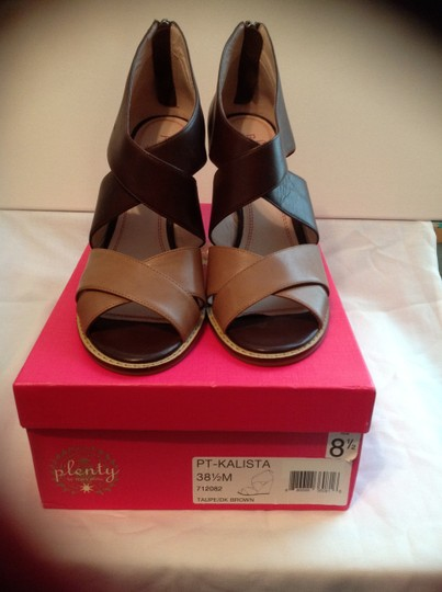 Plenty by Tracy Reese Taupe/Dark Brown Wedges Image 1