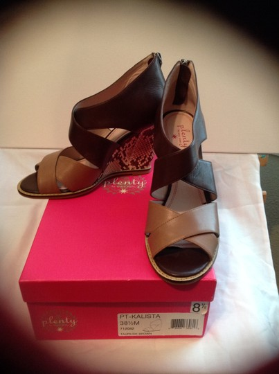 Plenty by Tracy Reese Taupe/Dark Brown Wedges Image 3