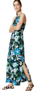 Navy Maxi Dress by Ann Taylor LOFT Floral Halter Maxi