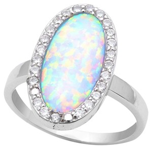 9.2.5 Unique large oval opal cocktail ring size 9