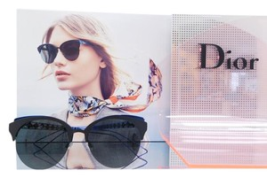 Dior New Diorama Club/S G5V2K Matte Black Blue Metal Frame 55mm Italy