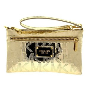 Michael Kors Satchel Wristlet in Metallic Pale Gold