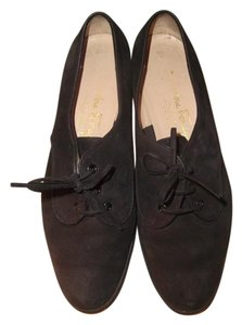 Salvatore Ferragamo Oxford Black Wedges
