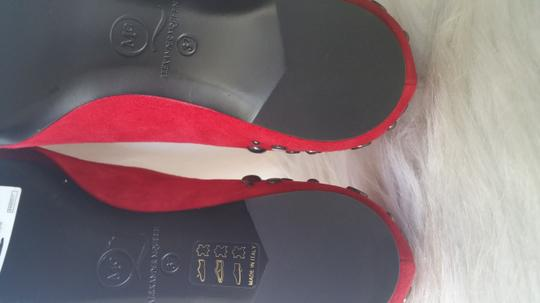 Alexander McQueen Suade Leather Red Flats Image 5