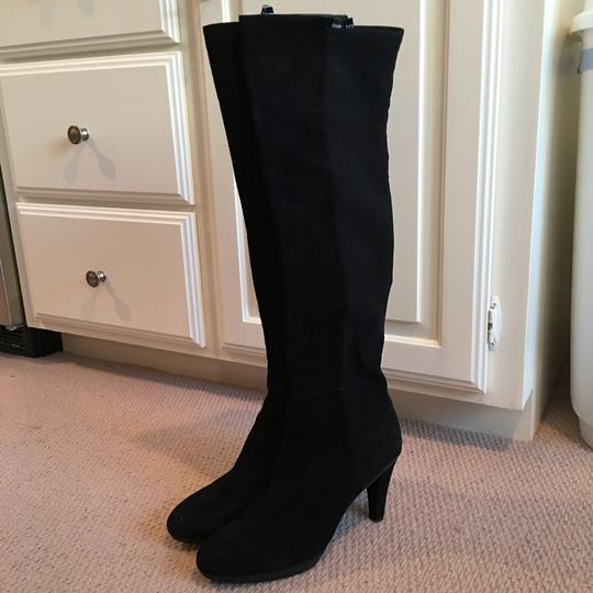 Stuart Weitzman Suede Over The Knee Knee High Black Boots Image 1