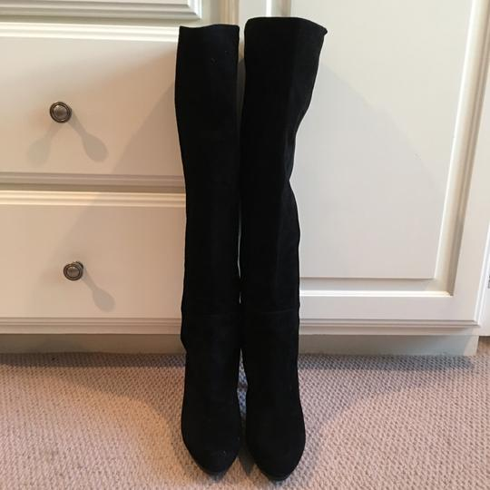 Stuart Weitzman Suede Over The Knee Knee High Black Boots Image 2