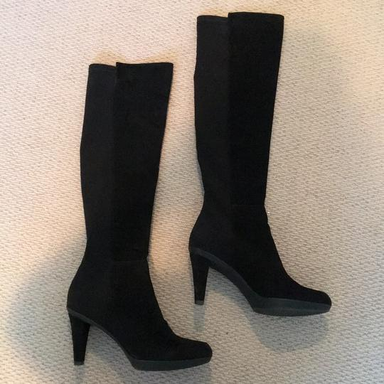 Stuart Weitzman Suede Over The Knee Knee High Black Boots Image 7
