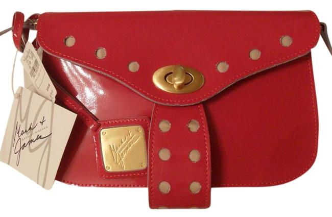 Badgley Mischka Red Patent Leather Clutch Image 1