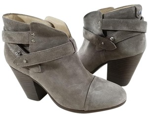 Rag & Bone Suede Ankle Padded Insole Grey Boots