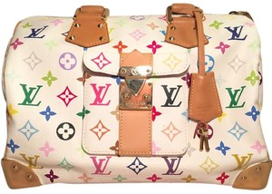 Louis Vuitton Satchel in White Multicolore Canvas