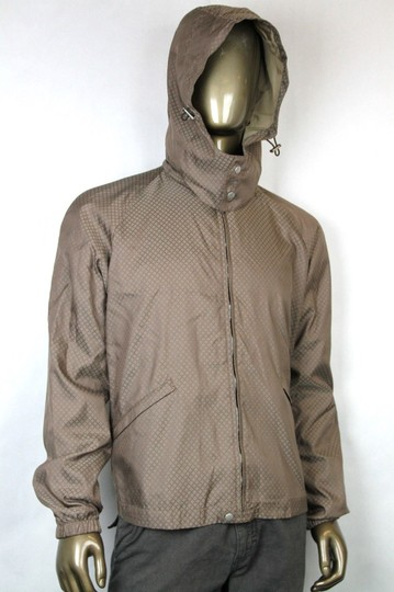Gucci Brown New Men's Diamante Hooded Blouse It 56 / Us 46 293026 2820 Groomsman Gift Image 1