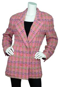 Chanel Tweed Double Breast pink Jacket