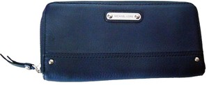 Michael Kors New Michael Kors Austin Leather Wallet Blue Zip Around